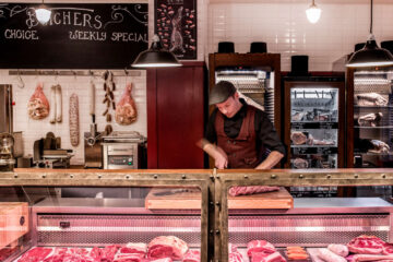 Williams Butchers Table Fleischtheke