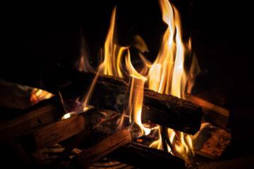 Feuer im Cheminée