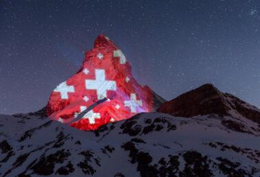 Matterhorn illuminated by Gerry Hofstetter